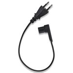 Flexson 0.35m Power Cable Right Angle EU Blk x1
