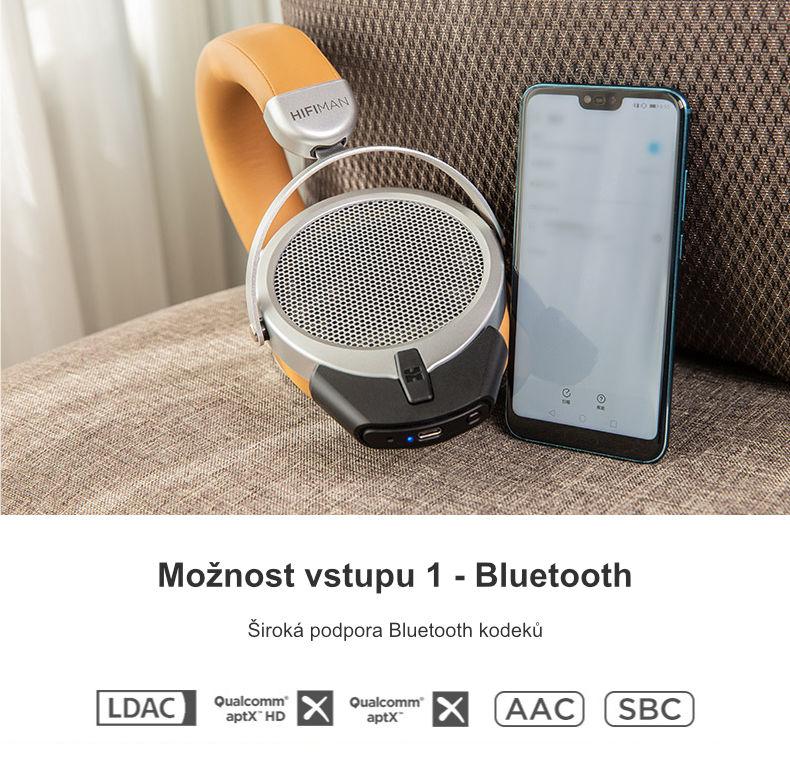 Možnosti vstupu 1 - Bluetooth