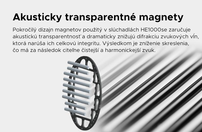 Akusticky transparentné magnety