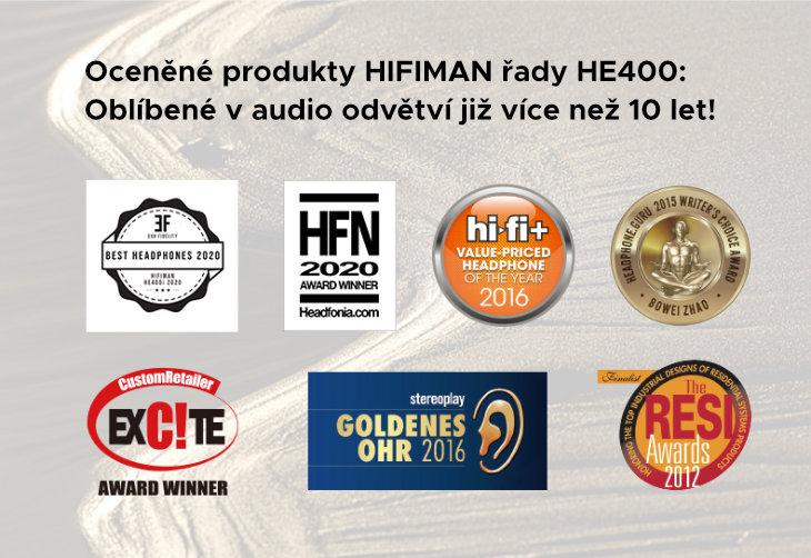 oceněné produkty řady HE400