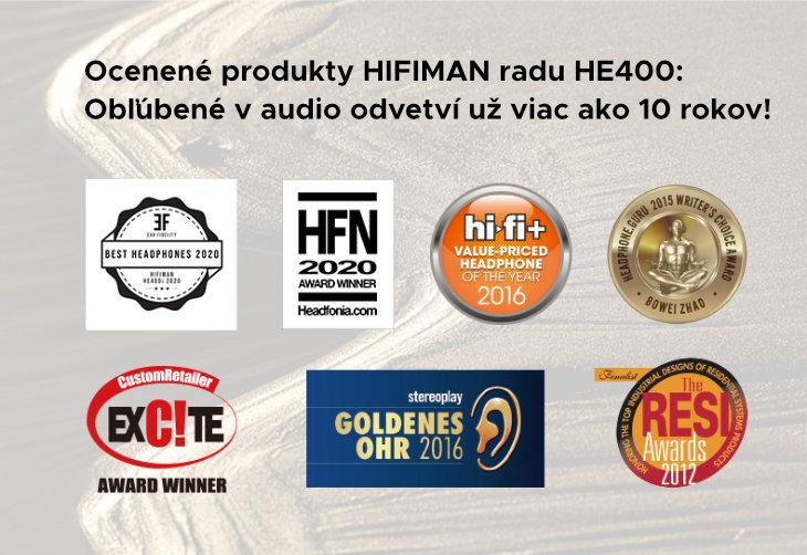ocenené produkty rady HE400