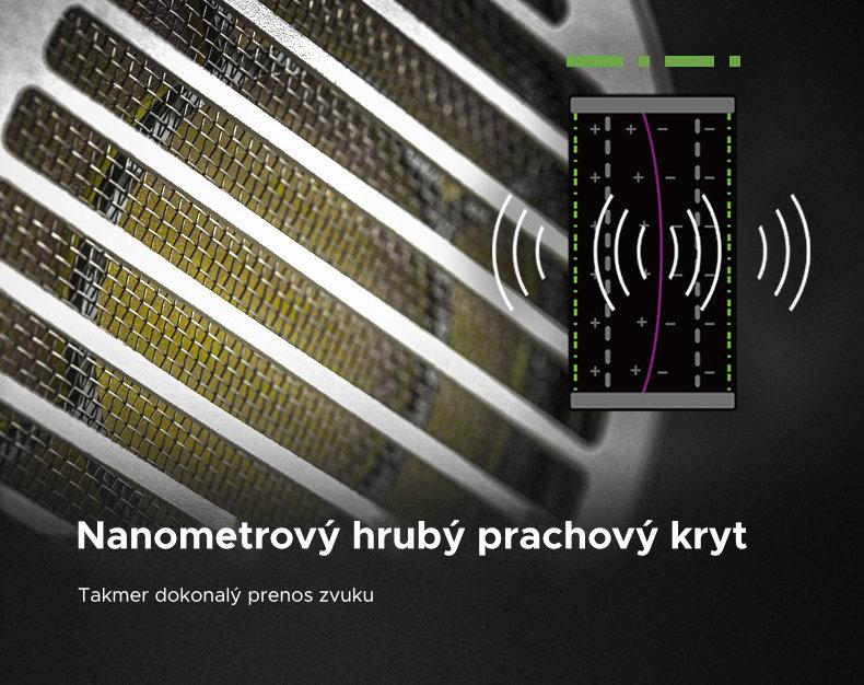 Nanometrickej hrubý prachový kryt